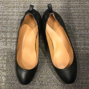 J. Crew Shoes - J. Crew Anya leather block heels black size 8